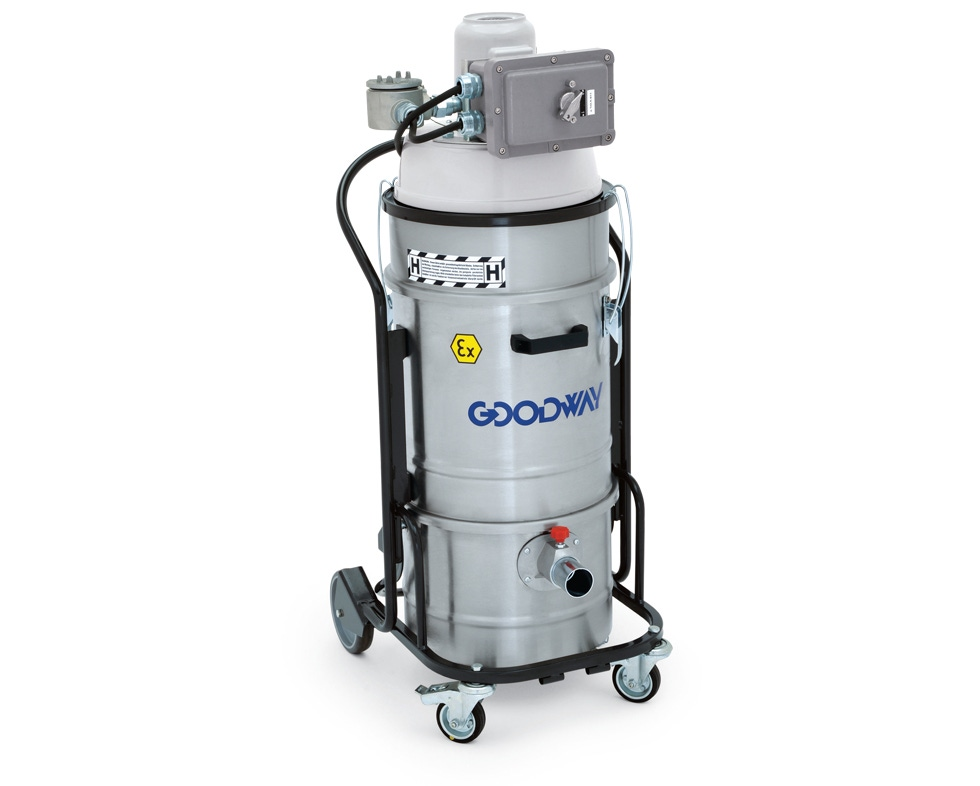 this explosion proof 115v hepa vacuum for dry hazardous material pickup is small in size but delivers a big performance - Hepa Vacuum