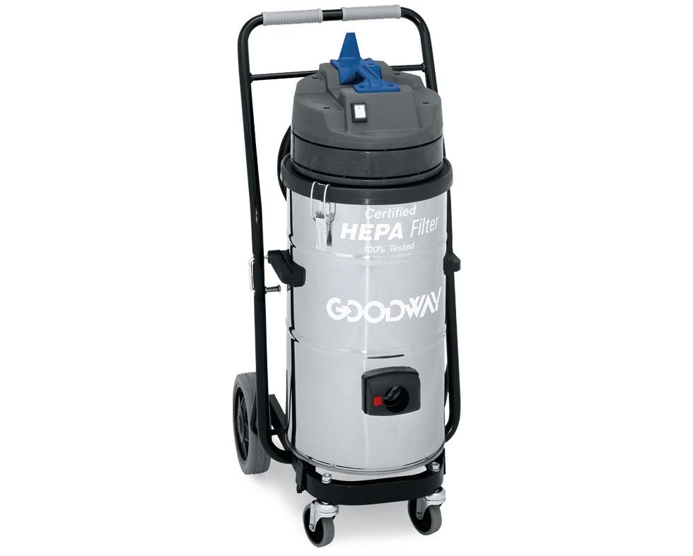 Beautiful Industrial Vacuum, HEPA, Dry, W/Dolly