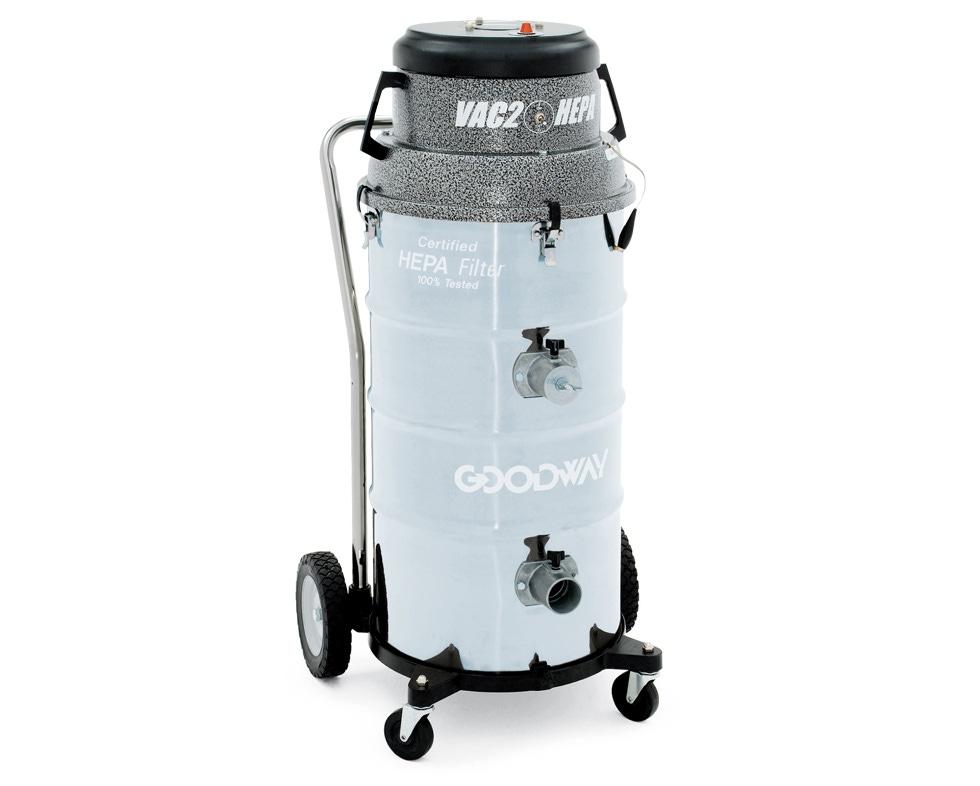 Industrial Vacuum, HEPA, Wet Dry, Heavy Duty W/Twin Motors