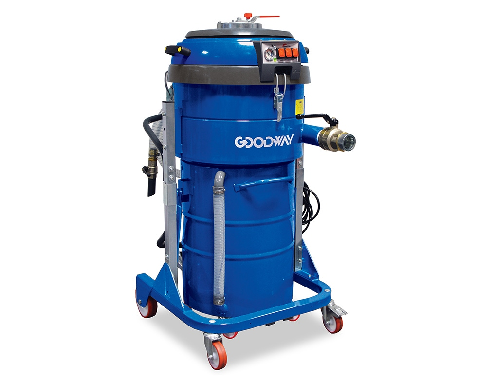 Industrial Vacuum, Chip/Coolant Recovery, w/Twin Motors